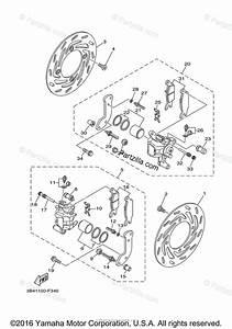 Yamaha Atv 2016 Oem Parts Diagram For Front Brake