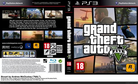 Grand Theft Auto V Playstation 3 Box Art Cover By Nal