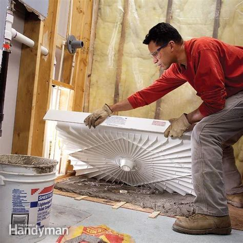 how to fit a shower tray shower base tubs and basements