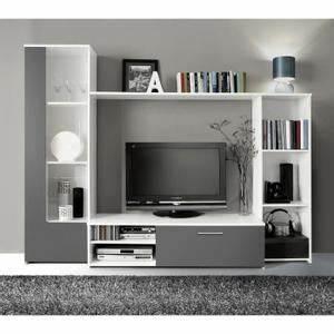 Meuble Tv Living : living meuble tv meuble tele solde maisonjoffrois ~ Teatrodelosmanantiales.com Idées de Décoration