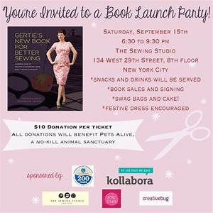 Another example of a book launch party announcement or ...