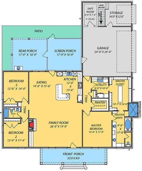 acadian house plan  safe room jw architectural designs house plans