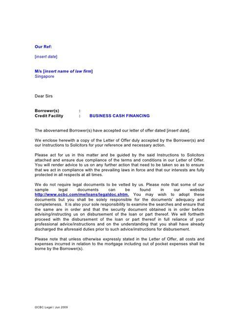 letter  instruction  business cash financing