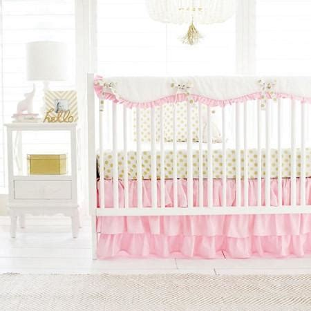 gold crib bedding sets gold polka dot in pink baby bedding set and