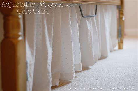 crib skirt pattern adjustable ruffled crib skirt a small snippet