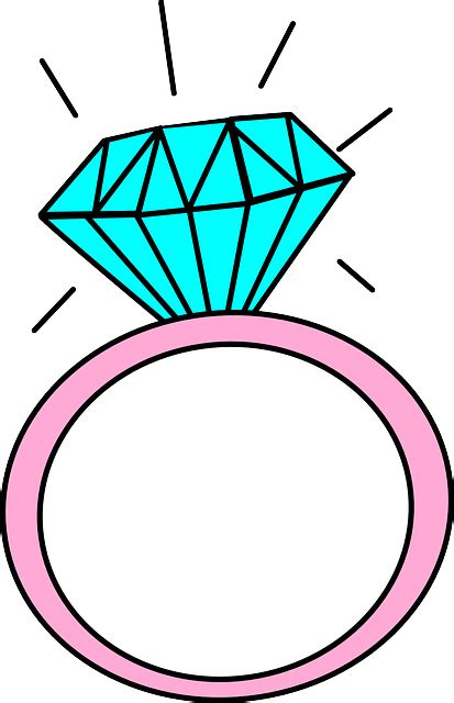 ring cartoon diamond 183 free vector graphic pixabay