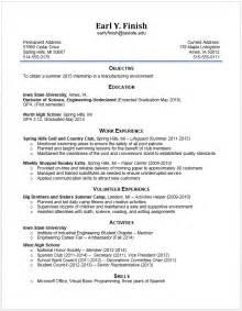 industrial engineering internship resume objective exle resumes engineering career services iowa state university