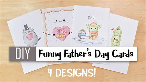 diy funny fathers day cards easy  cute puns card