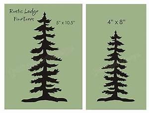 Pine Tree STENCIL Rustic Mountain Lodge Home Decor Cabin