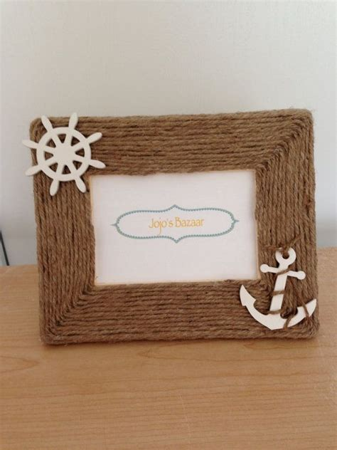 nautical picture frame  natural jute
