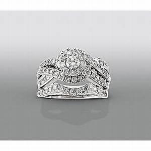 david tutera 1 1 2 cttw certified diamond bridal set With david tutera wedding rings at sears
