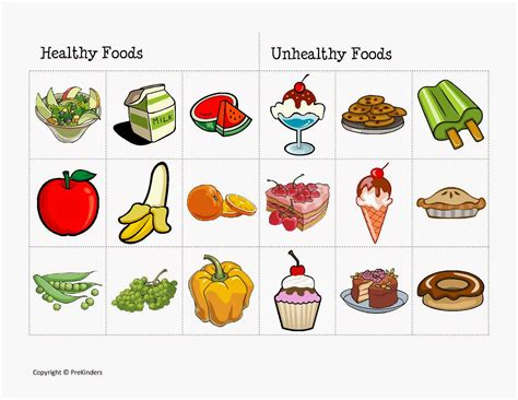 unhealthy food  kids clipart clipground