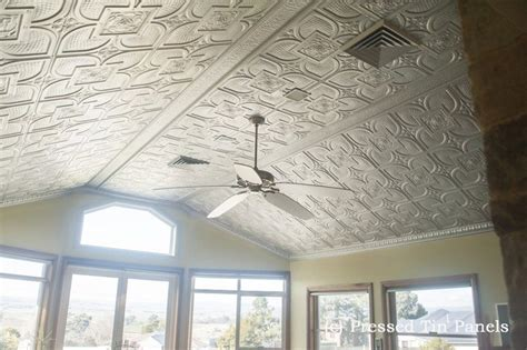 Pressed Tin Ceiling by Alexandria Ceiling Silver