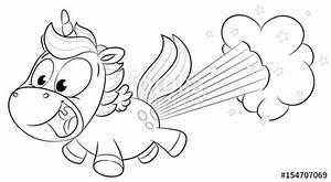 Regenbogen Zum Ausmalen : niedliches einhorn pupst regenbogen vektor illustration stockfotos und lizenzfreie vektoren ~ Buech-reservation.com Haus und Dekorationen