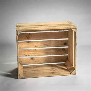 Caisse De Pomme : caisse en bois clair ~ Teatrodelosmanantiales.com Idées de Décoration