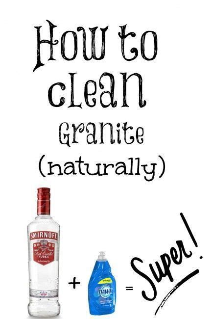 25 best ideas about cleaning granite countertops on