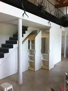Rangement Sous Escalier Coulissant by Placards Sur Mesure Sous Escalier Les Ateliers Du C 232 Dre