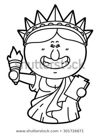 funny statue liberty vector illustration coloring stock vector royalty