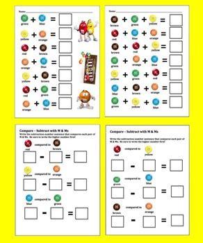 mm math literacy center activities sort count add