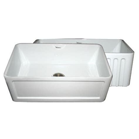 all in one sink whitehaus collection reversible farmhaus series all in one