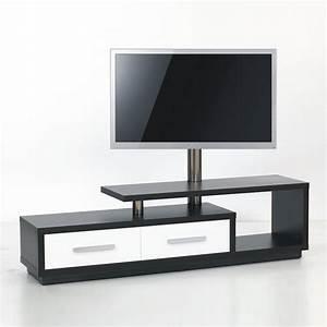 Meuble Tv Hifi : meuble tv design 170cm noir blanc natura 170h ibw premium mobuler ~ Teatrodelosmanantiales.com Idées de Décoration