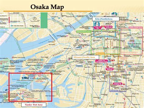 map  osaka japan trip osaka osaka japan map