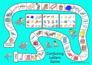 confusing letters game learning materials ltd With letter games
