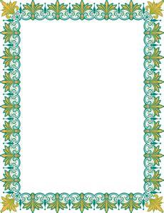 file desain frame border berformat vector