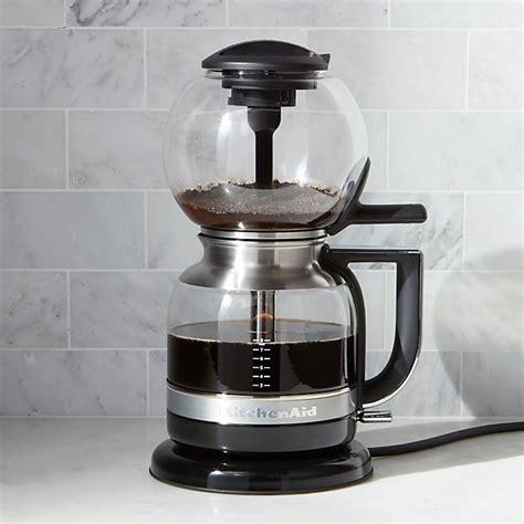 kitchenaid siphon vacuum coffee maker crate  barrel