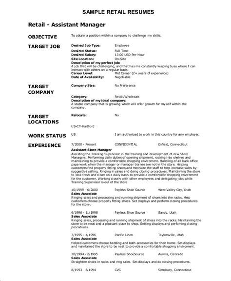 sales resume exle 8 sles in word pdf