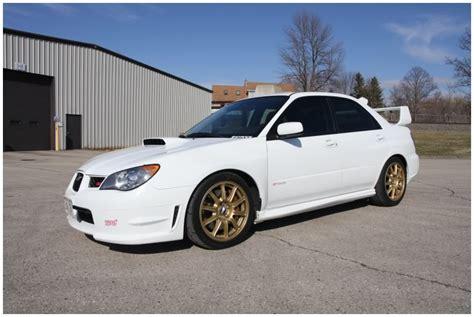 black subaru gold rims 2006 subaru impreza wrx sti white with gold bbs wheels