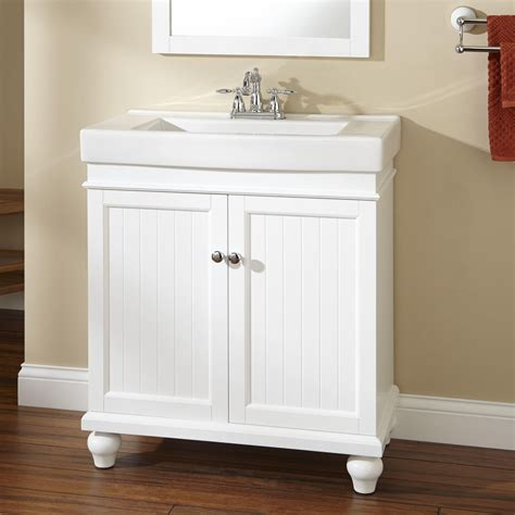 30 Lander Vanity White Bathroom