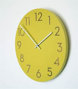 Contemporary large wall clock for living space wall clocks for Large wall clock modern