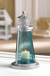 Blue Watch Tower Candle Lantern Lamp Wholesale at Eastwind