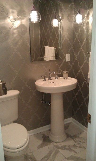 small pedestal sinks for powder room glam small bathroom saw this mirror on clearance at