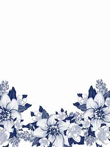 Watercolor Flower Background Png Vector Clipart PSD