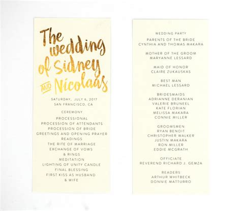 26 unique wedding ceremony programs we absolutely adore the overwhelmed wedding