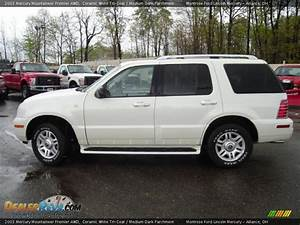 2003 Mercury Mountaineer Premier Awd Ceramic White Tri