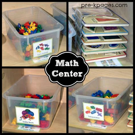 how to set up a math center in preschool or kindergarten 143 | preschool math center materials