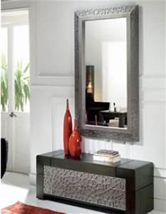 Miroirs Design Contemporain : meuble entree avec miroir ~ Teatrodelosmanantiales.com Idées de Décoration