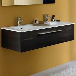 Double Vasque Salle De Bain : meuble salle de bain double vasque m lamin bois meuble salle de bain halo ~ Teatrodelosmanantiales.com Idées de Décoration