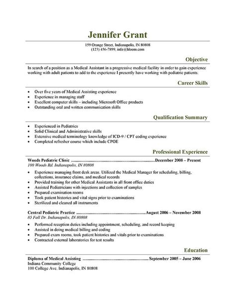 Clinical Assistant Resume by 16 Free Assistant Resume Templates Hloom