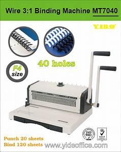 China F4 Size P3  1 Manual Wire Binding Machine  Mt7040