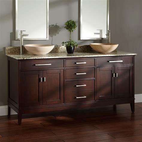 double vessel sink vanity 72 quot madison double vessel sink vanity light espresso