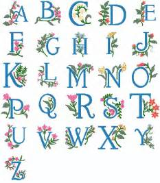 letter designs pes machine embroidery alphabet 2nd collection floral design complete alphabet in