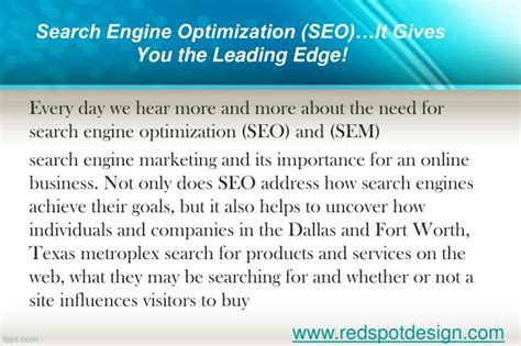 Search Engine Optimization Ranking by Ppt How Redspotdesign Can Increase Your Website S