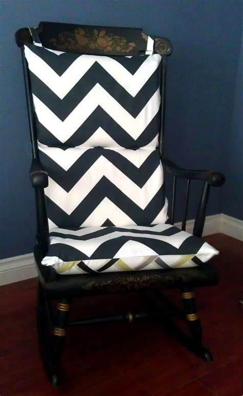 reversible rocking chair cushion chevron trellis