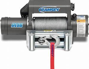 Ramsey 109153 Patriot 9500 Winch With 12 Ft  Wire Pendant