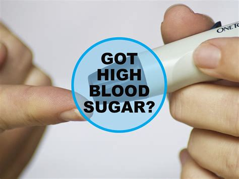 signs  symptoms    high blood sugar
