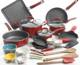 pioneer woman cookware  red   reg  shipped